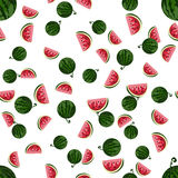 Watermelon pattern. Vector Illustration. Pattern of watermelon on a white background Stock Photo