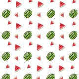 Watermelon pattern watercolor vector illustration
