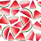 Watermelon pattern. watermelon slices on a white background vector illustration