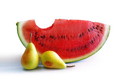 Watermelon and Pears stock image