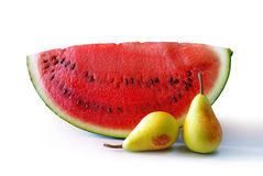 Watermelon and Pears Royalty Free Stock Photography