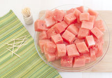 Watermelon peeled and cut Royalty Free Stock Photo