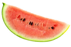 Watermelon. Photographed close-up on white background Royalty Free Stock Photography