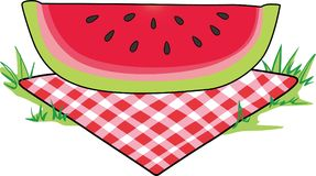 WATERMELON PICNIC Royalty Free Stock Photos