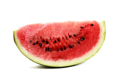 Watermelon piece. Isolated on white background Stock Photo