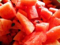 Watermelon pieces Stock Photos