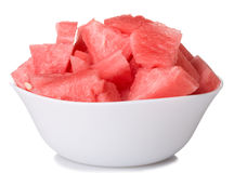 Watermelon pieces in bowl Royalty Free Stock Images