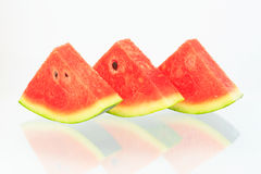 Watermelon isolated. Watermelon pieces with isolated background Stock Photography