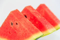 Watermelon isolated. Watermelon pieces with isolated background Stock Photo