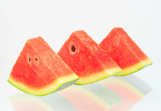Watermelon isolated. Watermelon pieces with isolated background Stock Image