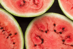 Watermelon pieces on the table Stock Image