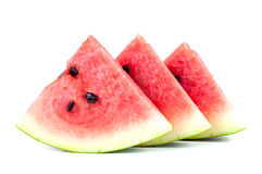 Watermelon pieces on white background Royalty Free Stock Photography