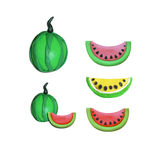 Watermelon Plasticine Clay/ Pink, yellow,red,watermelon Royalty Free Stock Image