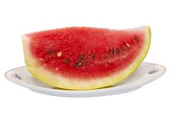 Watermelon on plate Stock Images
