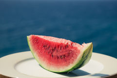 Watermelon on the plate Stock Photos