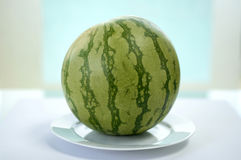 Watermelon on plate Stock Photo