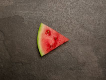 Watermelon play button slice top view Royalty Free Stock Photos