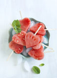 Watermelon Pops. Royalty Free Stock Photos