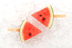 Watermelon popsicle yummy fresh summer fruit sweet dessert Royalty Free Stock Images