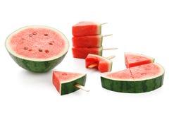 Watermelon popsicle yummy fresh summer fruit sweet dessert Stock Image