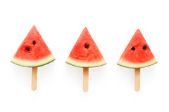 Watermelon popsicle yummy fresh summer fruit sweet dessert Royalty Free Stock Photography