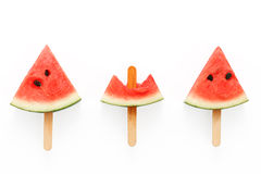 Watermelon popsicle yummy fresh summer fruit sweet dessert Stock Photography