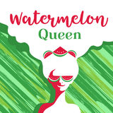 Watermelon poster concept Stock Images