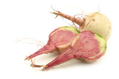 Watermelon radish and a cut one Stock Photography