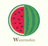 Watermelon raster illustration Royalty Free Stock Image
