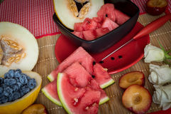 Watermelon. In red CHINA. Melon Royalty Free Stock Photography
