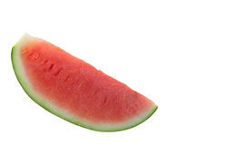 Watermelon red slices isolate white background. Royalty Free Stock Images
