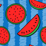 Watermelon repeating background royalty free stock images