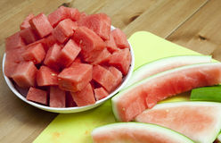 Watermelon and rind Stock Photos