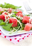 Watermelon with rucola Royalty Free Stock Photography
