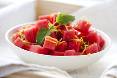 Watermelon salad Stock Photo