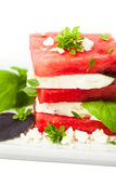 Watermelon Salad with Feta Cheese Royalty Free Stock Photography