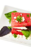 Watermelon Salad with Feta Cheese Royalty Free Stock Image