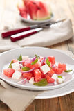 Watermelon salad. Royalty Free Stock Images