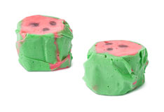 Watermelon Salt Water Taffy isolated Stock Photo