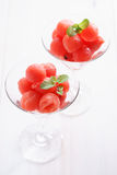 Watermelon scoop ball Royalty Free Stock Images