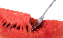Watermelon scooping Royalty Free Stock Photos