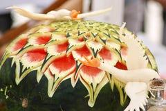Watermelon sculpture Royalty Free Stock Photos
