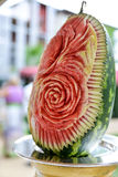 A watermelon sculpture Stock Photography
