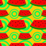 Watermelon seamless background design Royalty Free Stock Photo
