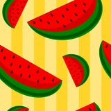 Watermelon Seamless Background Stock Photography