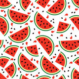 Watermelon seamless background, vector  Royalty Free Stock Image