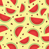 Watermelon seamless background. Vector illustration Royalty Free Stock Image