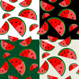 Watermelon seamless background for your design Stock Illustration