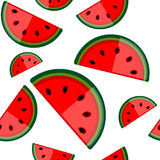 Watermelon seamless background for your design Stock Photography