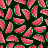 Watermelon Seamless Pattern Stock Image